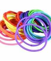 Feest 40x gekleurde haarelastieken