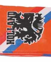 Feest 40x oranje holland leeuw thema servetten 33 x 33 cm papier