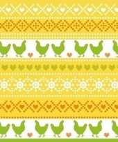Feest 40x pasen servetten kippen geel oranje groen 33 x 33 cm