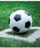 Feest 40x voetbal thema servetten 33 x 33 cm