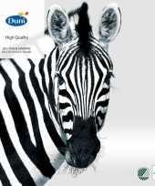 Feest 40x zebra dieren thema servetten zwart wit 33 x 33 cm