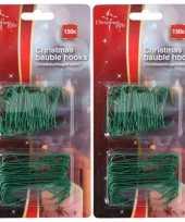 Feest 450x groene kerstbalhaakjes kerstboomhaakjes 6 3 cm