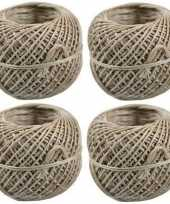 Feest 4x bindtouw bolletjes van 50 meter