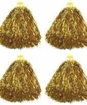 Feest 4x cheerballs goud 33 cm
