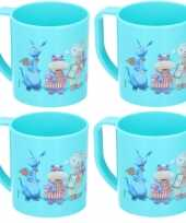 Feest 4x doc mc stuffins disney mokken onbreekbare drinkbekers blauw