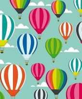 Feest 4x geschenkpapier luchtballonnen thema 70 x 200 cm