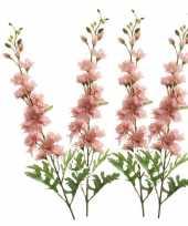 Feest 4x kunstbloem ridderspoor roze