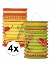 Feest 4x mexico thema lampion setje fiesta