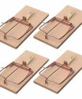 Feest 4x rattenvallen rattenklemmen 17 cm ongediertebestrijding