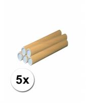 Feest 5 hobby materiaal kokers van karton 43x6 cm