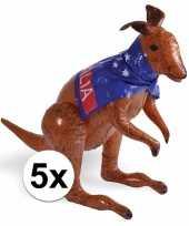 Feest 5 stuks opblaasbare australia kangoeroes