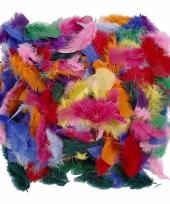 Feest 50 gram gekleurde decoratie veren