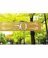 Feest 50 jaar decoratie banner 180 x 40 cm