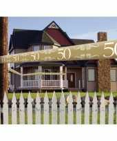 Feest 50 jaar decoratie markeerlint
