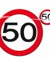 Feest 50 jaar placemats onderzetters