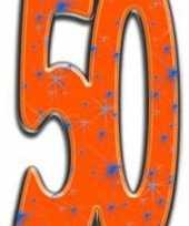 Feest 50 jaar versiering bord