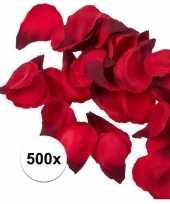 Feest 500x rode strooi rozenblaadjes 3 cm