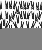 Feest 50x zwarte mini knijpertjes