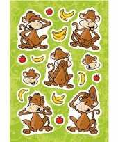 Feest 51x aap apen dieren stickers met 3d effect met zacht kunststof