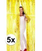 Feest 5x folie gordijn in het goud