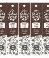 Feest 5x gaias incense luxe wierook stokjes cedarwood geur