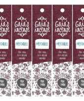 Feest 5x gaias incense luxe wierook stokjes patchouli geur