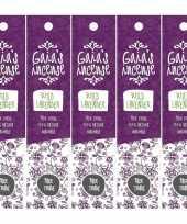 Feest 5x gaias incense luxe wierook stokjes wilde lavendel geur