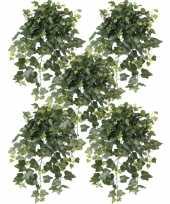 Feest 5x groene hedera helix klimop kunstplanten 65 cm voor buiten