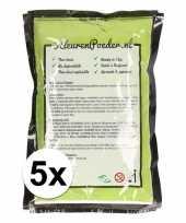 Feest 5x holi kleurpoeder groen