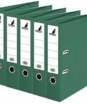 Feest 5x ringband mappen ordners groen 75 mm a4