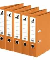 Feest 5x ringband mappen ordners oranje 75 mm a4