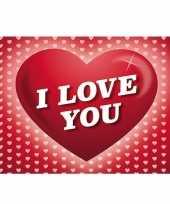 Feest 5x romantische valentijnskaart i love you ansichtkaart