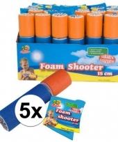 Feest 5x speelgoed waterpistool van foam 15 cm