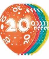 Feest 5x stuks 20 jaar thema versiering heliumballonnen 30 cm