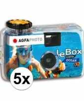 Feest 5x wegwerp onderwater cameras voor 27 kleuren fotos