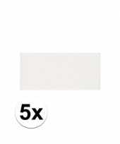 Feest 5x witte crepla plaat met 20 x 30 x 0 2 cm