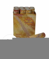 Feest 6 confetti kanonnen 30 cm goud