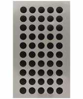 Feest 600x zwarte ronde sticker etiketten 8 mm