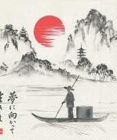 Feest 60x japan thema servetten 33 x 33 cm