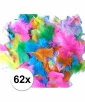 Feest 62x gekleurde pluimen veren