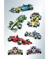 Feest 63x raceauto formule 1 stickers