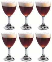 Feest 6x abdij abbey kelkglazen bierglazen speciaalbier 520 ml