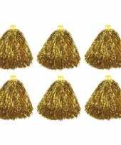Feest 6x cheerballs goud 33 cm