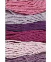 Feest 6x hobby naaigaren borduurgaren paarstinten 1mm