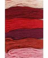 Feest 6x hobby naaigaren borduurgaren roodtinten 1mm