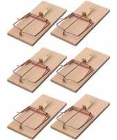 Feest 6x rattenvallen rattenklemmen 17 cm ongediertebestrijding