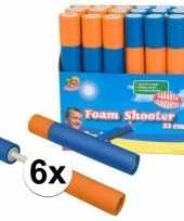 Feest 6x speelgoed waterpistool van foam 33 cm