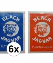 Feest 6x speelkaarten