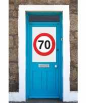 Feest 70 jaar verkeersbord deurposter a1