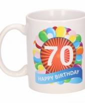 Feest 70e verjaardag cadeau beker mok 300 ml 10084010